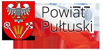 Grafika przedstawia logo Powiatu Pułtuskiego