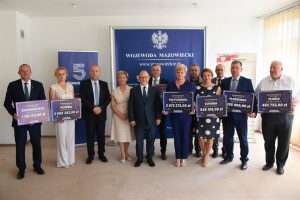 Dofinansowanie na przebudowę drogi powiatowej nr 2421W Nasielsk – Gąsocin – Ciechanów oraz drogi powiatowej nr 3420W Klukowo – Świerkowo.