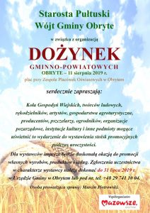 Zaproszenie Wystawców na Dożynki
