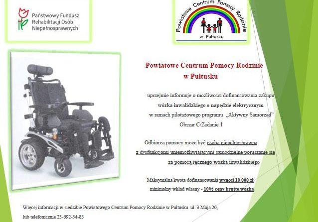 Informacja o możliwości zakupu wózka elektrycznego o napędzie elektrycznym
