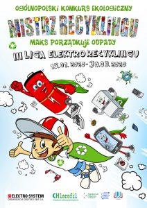 Plakat - konkurs Mistrz Recyklingu