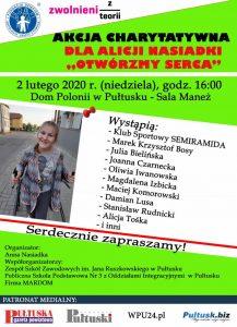Akcja charytatywna dla Alicji Nasiadki -Otwórzmy Serca