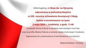 Informacja Wydziału Edukacji i Promocji Urzędu Miejskiego w Pułtusku