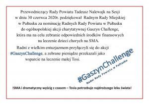 Gaszyn Challenge dla Tosi