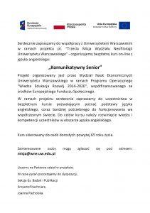 Plakat Komunikatywny Senior