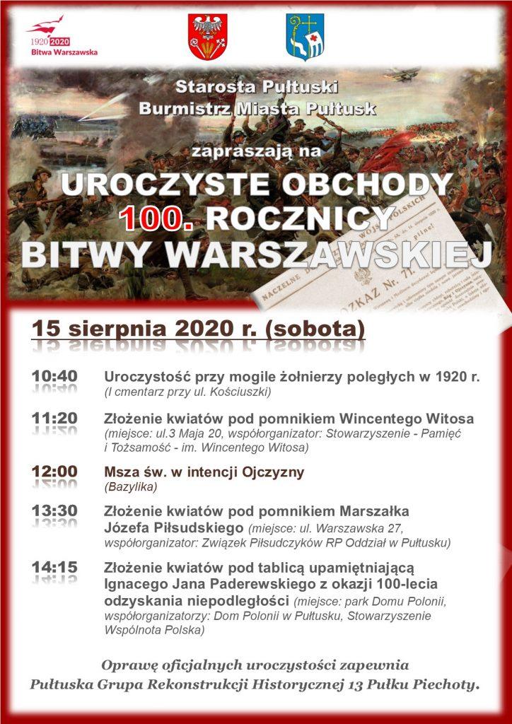 Plakat 100. rocznica Bitwy Warszawskiej