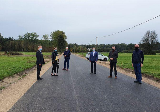 odbioru prac związanych z przebudową drogi powiatowej nr 3433W w miejscowości Obryte