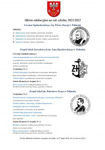 Plakat oferta edukacyjna