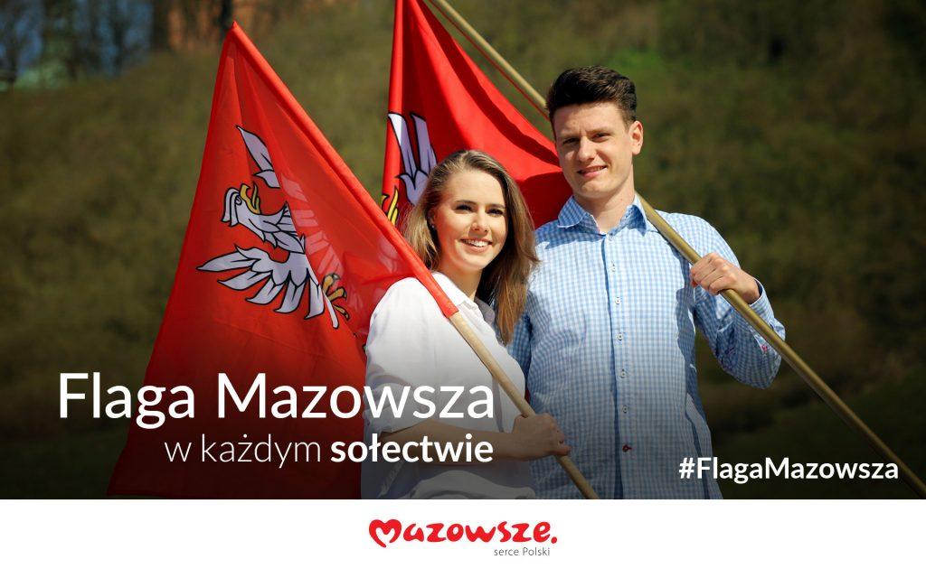 Plakat - Flaga Mazowsza