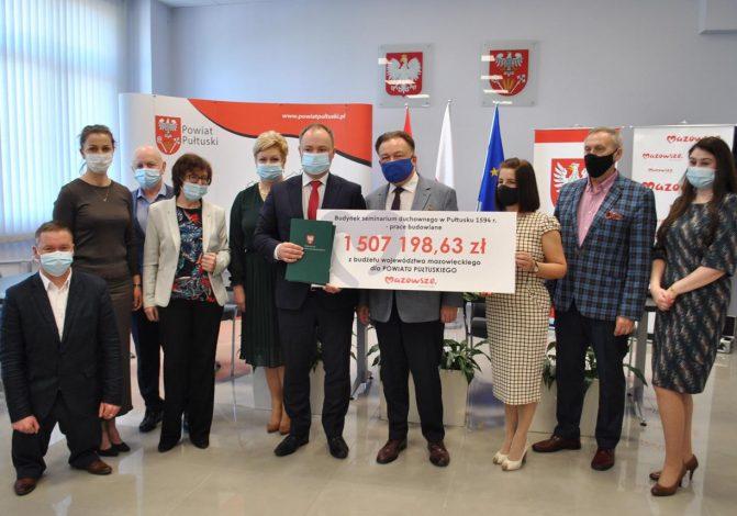 1 507 198,63 zł dofinansowania z Samorządu Województwa Mazowieckiego