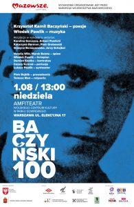 Wydarzenie w związku z 100. rocznicą urodzin Krzysztofa Kamila Baczyńskiego