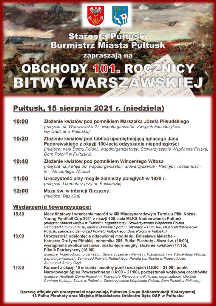 Plakat - 101 rocznica Bitwy Warszawskiej