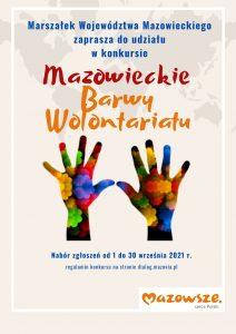 Plakat - Konkurs Mazowieckie Barwy Wolontariatu